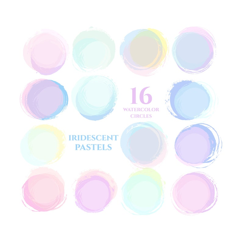 instagram story highlight icons pastel pink mint blue rainbow watercolor  circles clipart blog branding kit social media icons buttons