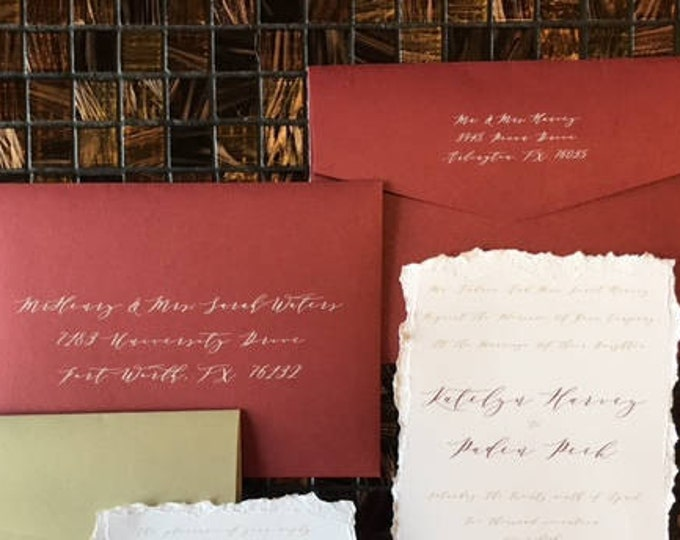 Wedding Calligraphy Guest Address & Return Address Printing, ENVELOPES INCLUDED, Multiple Colors and Sizes Available