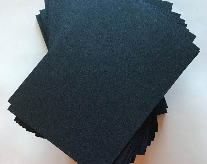 5.5x7.5 Navy Blue Metallic Shiny Paper for Wedding Invitations