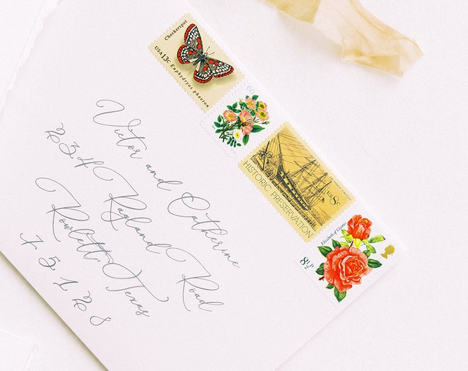 ENVELOPES INCLUDED Wedding Guest Address Printing, Modern Printed Calligraphy, Multiple Color Options & Sizes