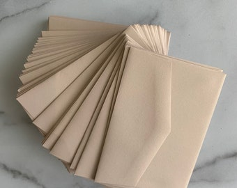 A1 3.5x5 Blush Pink Metallic RSVP 4 Bar Envelopes for Wedding Invitations