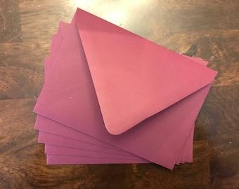 5x7 Matte Burgundy Marsala Wedding Invitation Envelopes