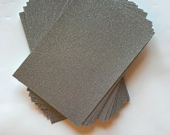 5.125x7.125 Silver Sparkly Glitter Paper for Wedding Invitations