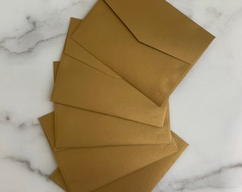 A2 4x5 Antique Gold Metallic Envelopes for Wedding Invitations or Thank You Cards