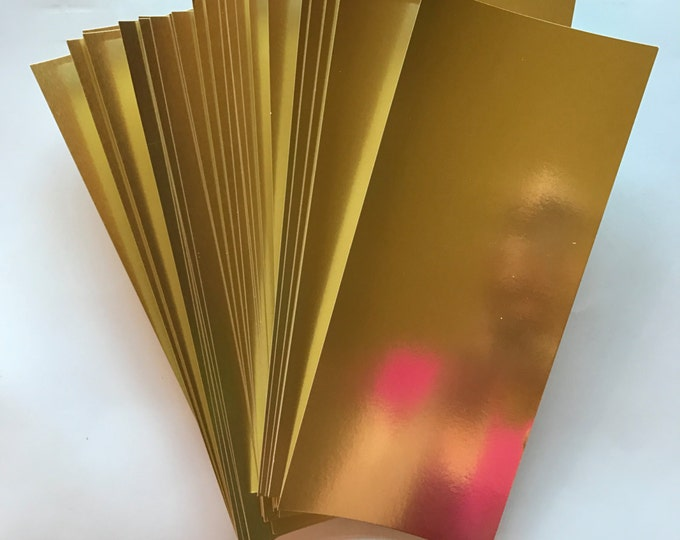 3.75x7.75 Gold Metallic Shiny Paper for Wedding Invitations