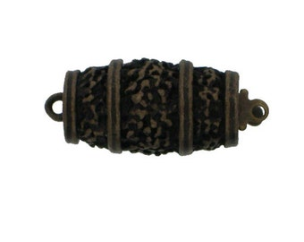 One-Strand Barrel Box Clasp in Antique Brass, 19x10mm