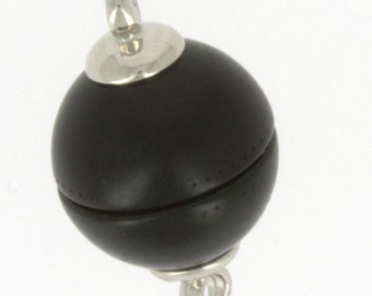 12mm Polaris Magnetic Clasps with Rhodium End Caps in Black, Two Finishes