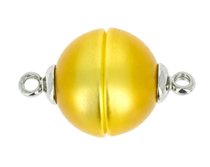 14mm Polaris Magnetic Clasps with Rhodium End Caps in Peach and Yellow