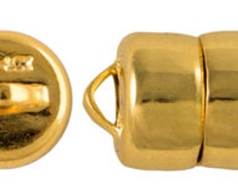 MAG-LOK Button Magnetic Clasp, in Gold or Silver Plate, 8mm