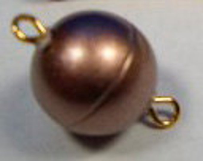 Rose Gold Round Magnetic Clasp in Matte Finish, Three Sizes - 8, 10, and 12mm