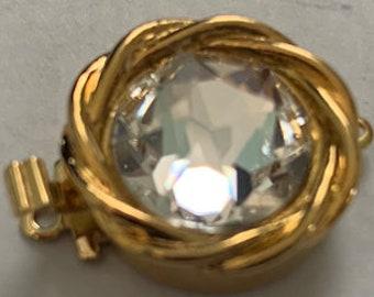 One-Strand Swarovski Crystal Clasps in Gold or Rhodium Setting, 16mm