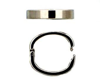 Medium Oval Pearl Shortener (Twist Ring) in Shiny Gold or Rhodium Finish, 25x20mm