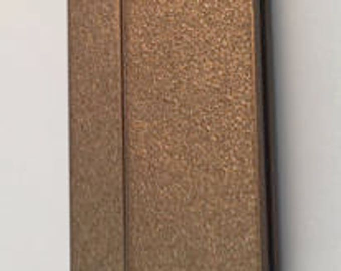 Extra-Wide Bronze Magnetic Glue-In Clasps for Leather or Kumihimo, 25x43mm, 40mm opening