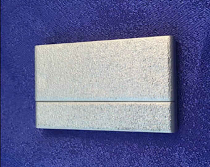 Extra-Wide Silver Magnetic Glue-In Clasps for Leather or Kumihimo in Two Finishes, 25x43mm, 40mm opening