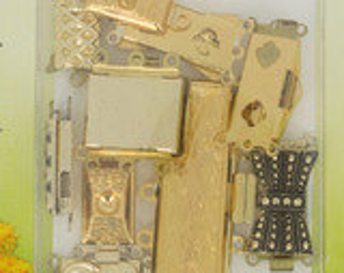 Vintage Clasps from 1975 - 10 Clasps per Package in Gold or Silver Finish