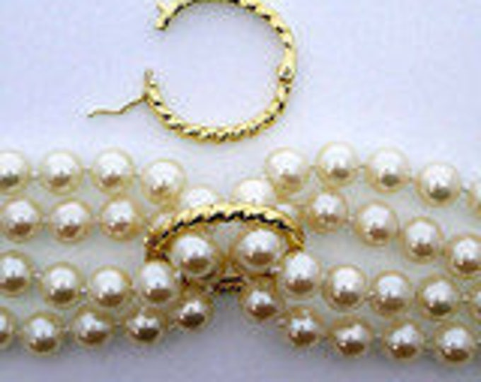Larger Twisted Rope Oval Pearl Shortener for 7-8mm Beads in Sterling Silver or Light Gold, 24x19.5mm