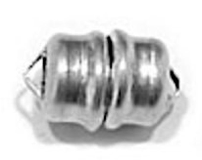 Sterling Silver Button MAG-LOK Magnetic Clasp, 7mm