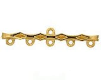 5:1 Strand Reducers in Gold or Rhodium Finish, 40x3.5mm, 4 per Package