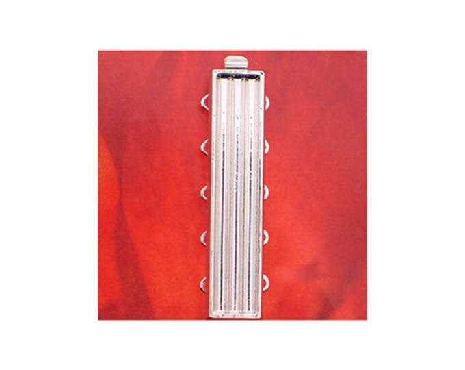 Five-Strand Add-Your-Own-Delicas Clasp in Rhodium or Gold Finish, 33x7mm