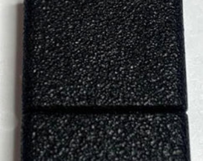 Black Magnetic Glue-In Clasp for 15mm Leather, Vinyl or Flat Beaded Bracelets,  18x23mm
