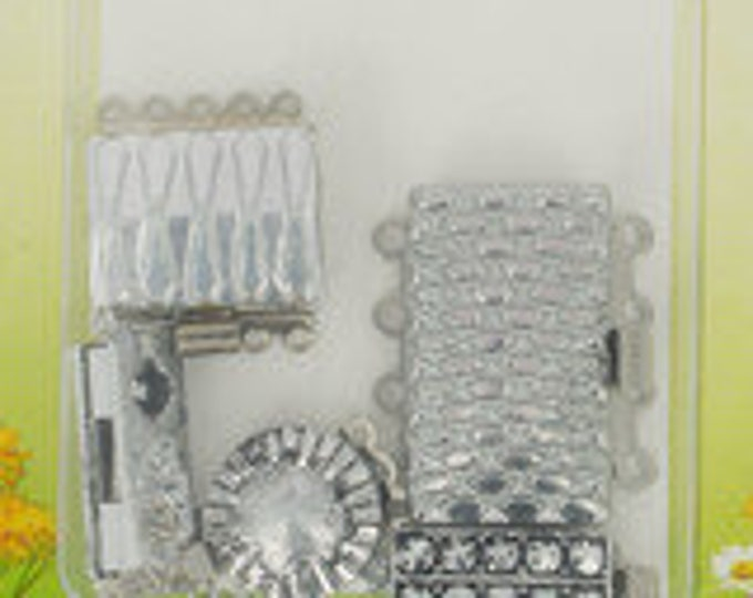 Vintage Clasps from 1975 - 5 Clasps per Package in Gold or Silver Finish
