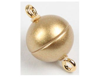 Gold Magnetic Clasps in Two Finishes, Three Sizes - 8mm, 10mm, and 12mm