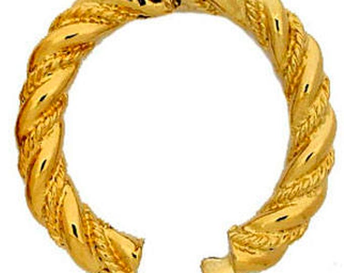 Oval Pearl Shortener (Enhancer) in Twisted Rope Design, Gold or Rhodium Finish, 29x25mm