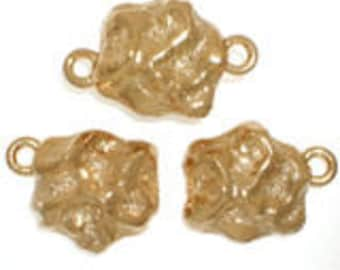One-Strand Nugget Magnetic Clasp in Gold or Rhodium Finish, 11x10mm