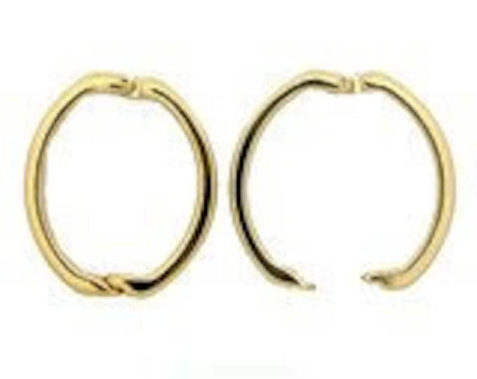 Large Oval Pearl Shortener (Twist Ring) in Shiny Gold or Rhodium Finish, 26x22.5mm