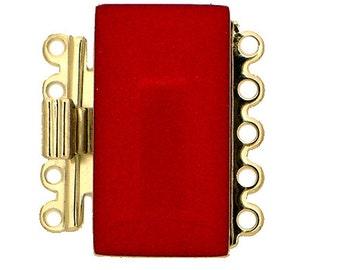 Five-Strand Enamel Bracelet Clasp in Six Colors, 19x11mm