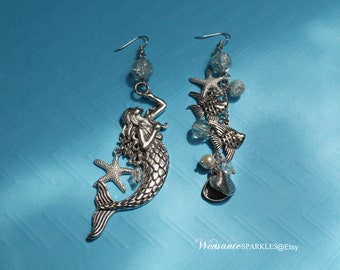 Sea Queen Mismatched Earrings