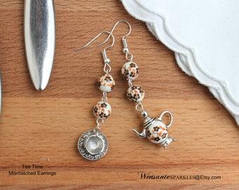 Tea Time Mismatched Earrings