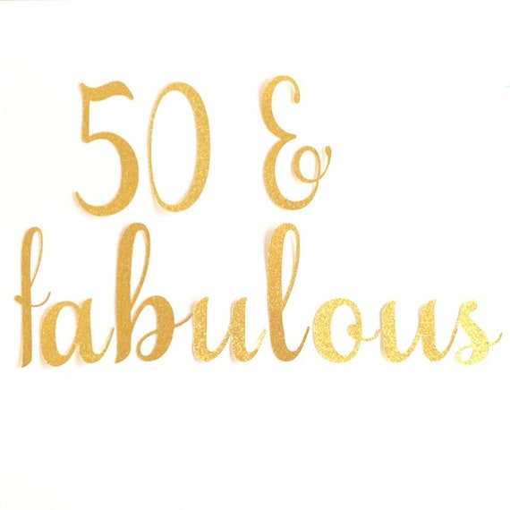 50 Fabulous Banner 50th Birthday Party Decoration 50 Fabulous Garland Glitter Garland Glitter Bunting Fifty Party Decor