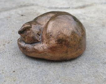 Binky Bronze Effect Cat Sculpture