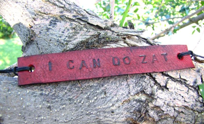 SALE fandom Inspired I Can Do Zat Tie Up Leather Fandom ID Bracelet