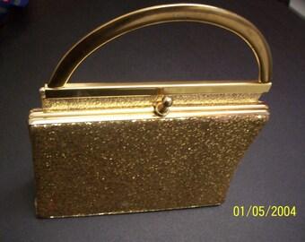 Authentique Vintage 60 ' s Shimmer or sac de soirée * belle