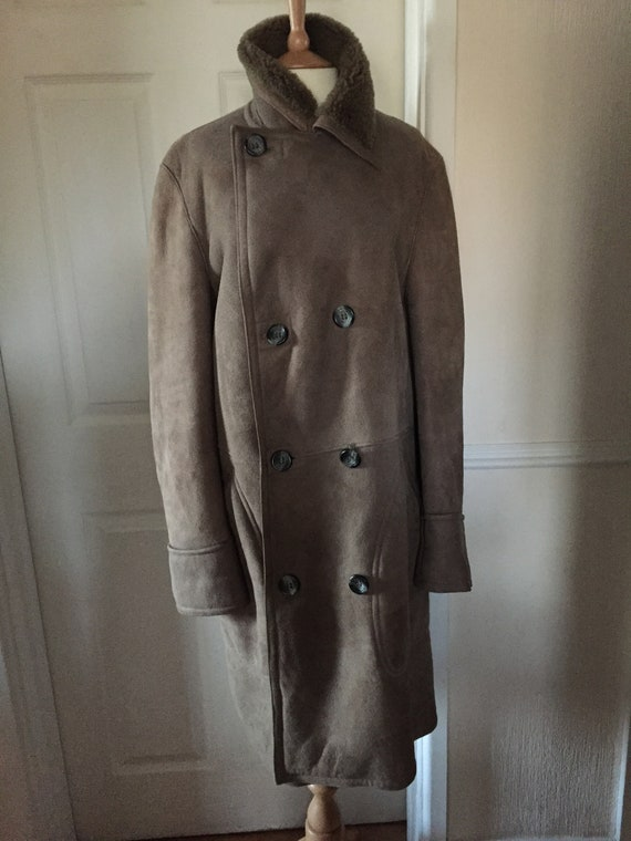 Huc Of Sweden Austin Reed Full Sheepskin Coat Sz L Etsy