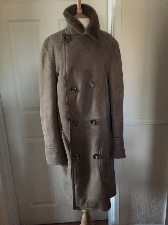 Huc Of Sweden Austin Reed Full Sheepskin Coat Sz L Etsy