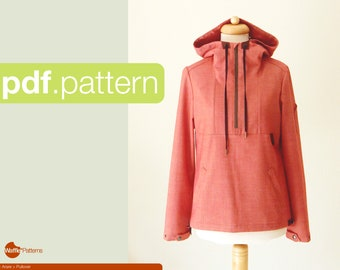PDF sewing pattern for women Pullover -Arare- (size 34-50)
