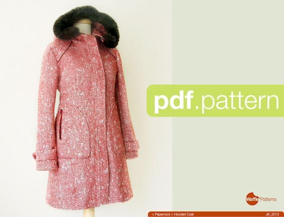 PDF-Schnittmuster. Frauen Kapuzen Mantel PepernootGröße | Etsy