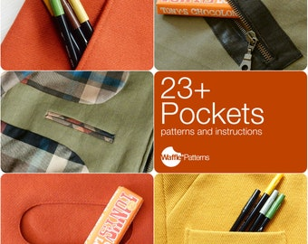 PDF sewing pattern 23+ Pockets - pocket patterns and sewing instructions -