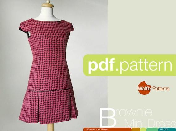 PDF-Schnittmuster. Frauen-Mini-Kleid Brownie Größe 34-48 | Etsy