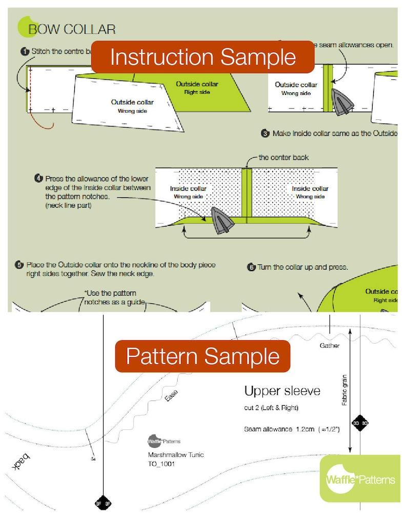 Women Short Duffle Jacket PDF sewing pattern Caramel- size 34-42