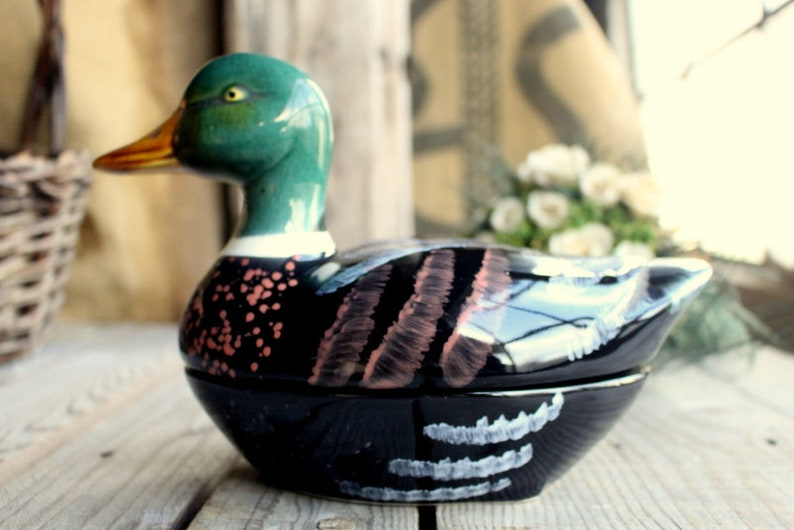 Michel Caugant Duck Terrine Made in France in Faience