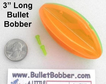 """One (1) 3"""" BulletBobber SteerItFishing mini planer board bobbers go LEFT or RIGHT and POP to flip direction Fun and Fast way to find fish."""