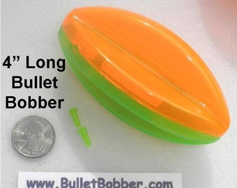 """One (1) 4"""" BulletBobber, Water Stunt Kite mini planer board bobber go left right and POP to flip direction FUN and FAST way to find fish."""