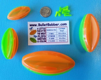 Bullet Bobber Combo Pack mini side planer board bobbers Go LEFT or RIGHT just give them a little POP to change direction.
