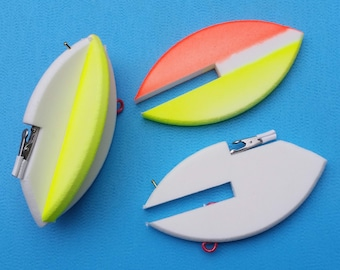 2 Patented DualFin mini planer boards you can steer by Steer It Fishing - fishing floats, fishing corks, BulletBobbers