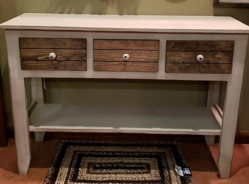 Outstanding Farmhouse Console Table Three Drawer Console Table Country Style Console Table Console Tables Credenza Sofa Table Gmtry Best Dining Table And Chair Ideas Images Gmtryco