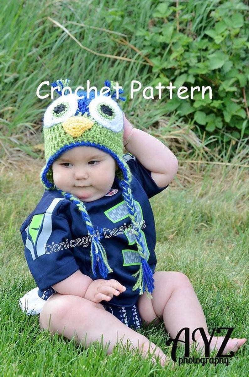 Crochet Pattern Seahawks Hat Bird Hat Etsy